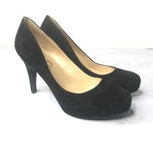 Marc Fisher Sydney Suede Leather High Pumps New